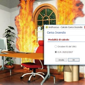 Calcolo del carico incendio - AntiFuocus - ACCA software