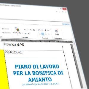 Piano di lavoro amianto certus amianto acca software for Software di piano planimetrico