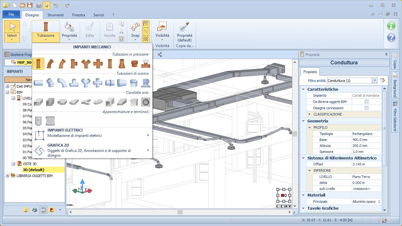 Software bim impianti mep edificius mep acca software for Software di progettazione di costruzione di case gratuito