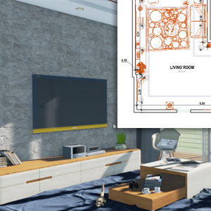 Rendering 3D Real Time di interni - Edificius RTBIM - ACCA software