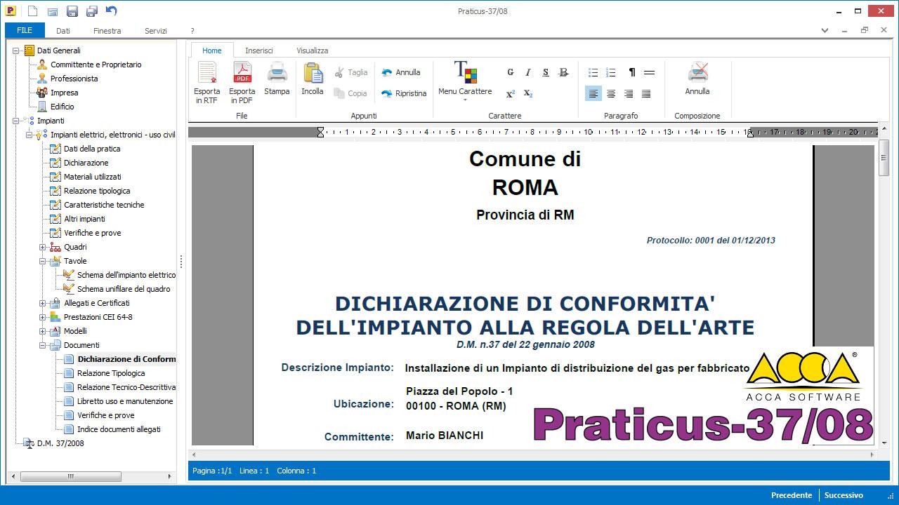Dichiarazione di cx - Comune di CASTEL DI IUDICA