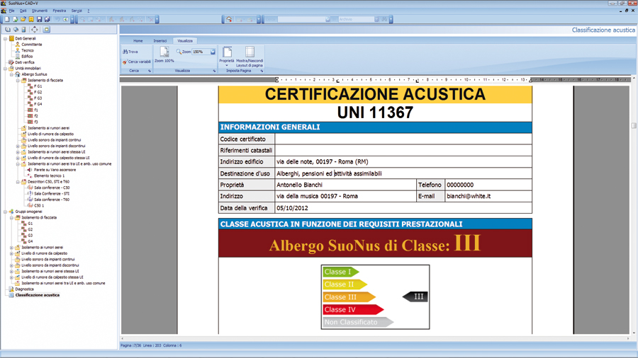 Software previsionale acustica ambientale