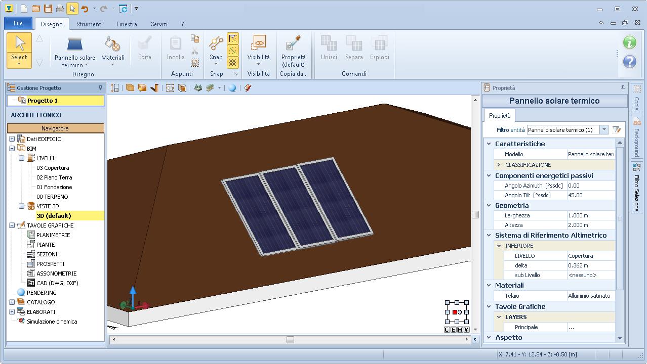 Pannello Solare Termico In Facciata : Simulazione energetica dinamica di edifici termus plus