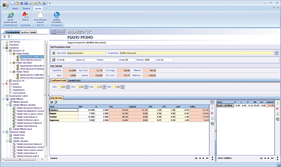 Software tabelle millesimali esimus acca software for Software per planimetrie