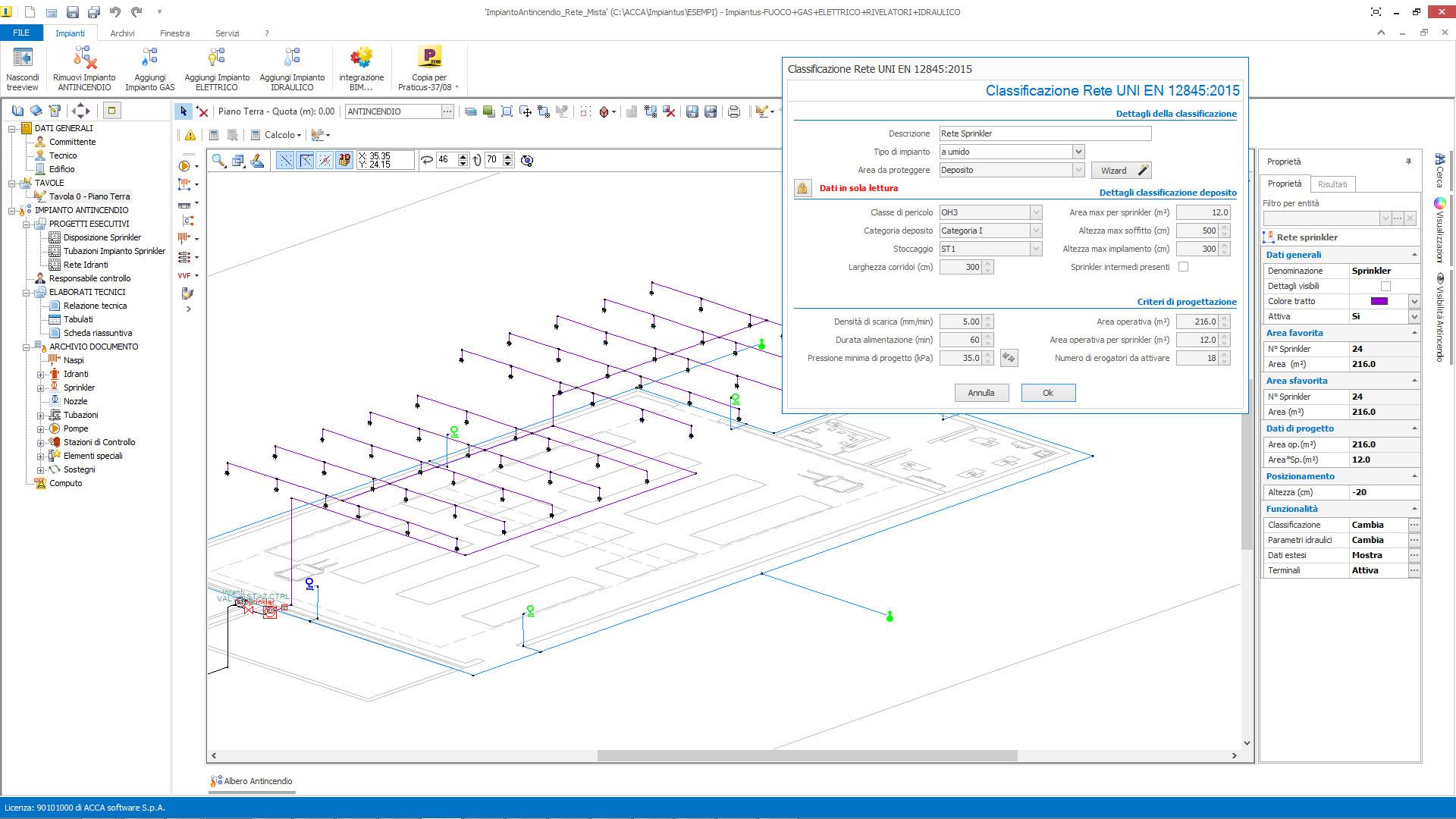 Aggiornamento impiantus fuoco versione for Software progettazione impianti irrigazione gratis