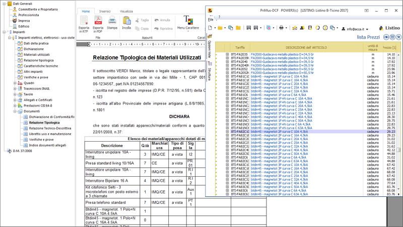 Software per dichiarazione di conformita praticus 37 08 for Preventivo impianto elettrico pdf