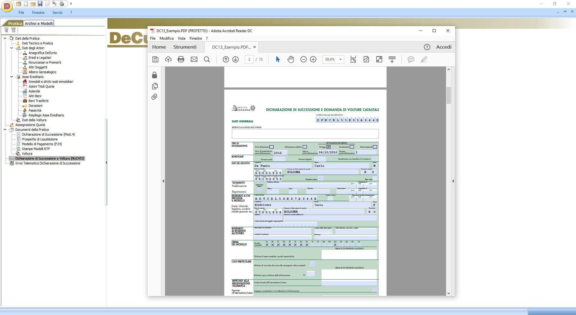 Software Successioni - DeCuius - ACCA software
