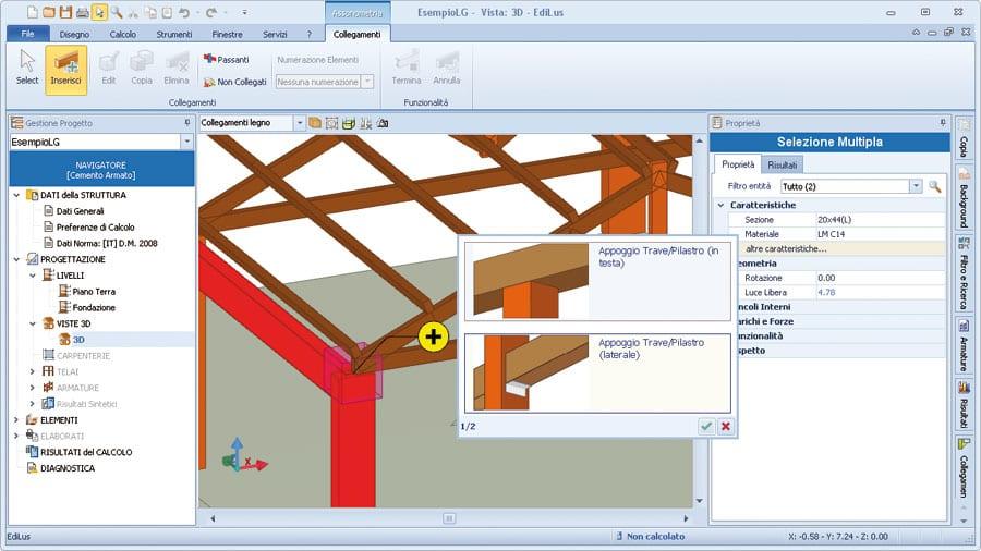 Software calcolo strutture in legno edilus lg acca software - Software progettazione mobili legno gratis ...
