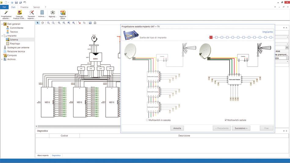 Software impianto antenna tv impiantus antenna tv acca for Software di progettazione domestica personalizzato