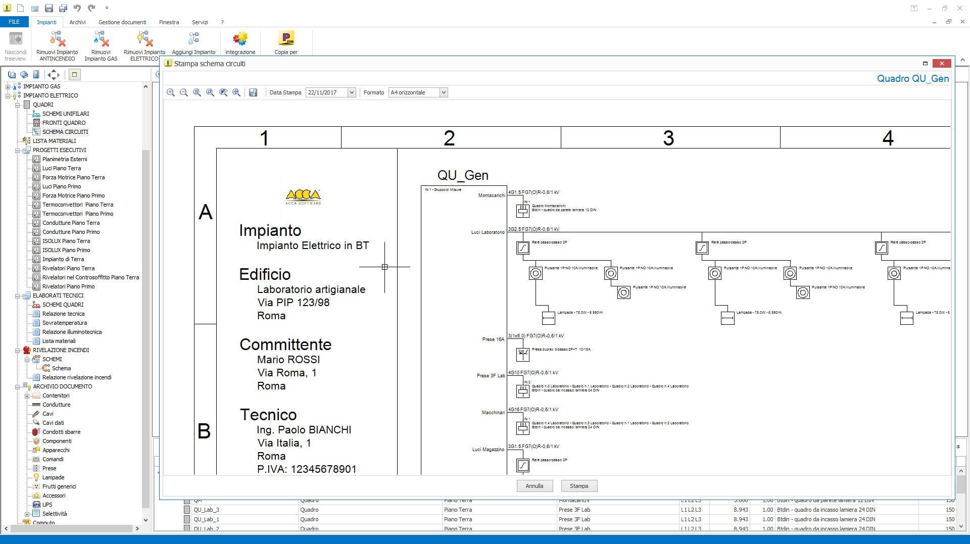 Schema Elettrico Trifase : Aggiornamento impiantus elettrico versione 10.00