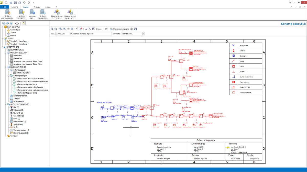 Schema Elettrico Impianto Gas Per Auto : Software progettazione reti gas impiantus acca