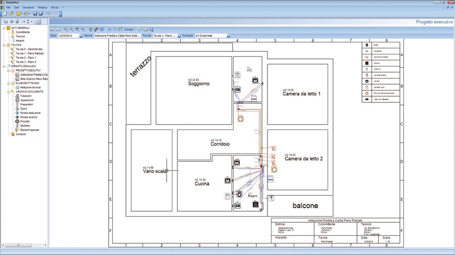 Software progettazione impianti idraulici impiantus for Tipi di tubi utilizzati nell impianto idraulico