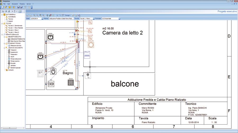 Software progettazione impianti idraulici impiantus - Software progettazione bagno ...