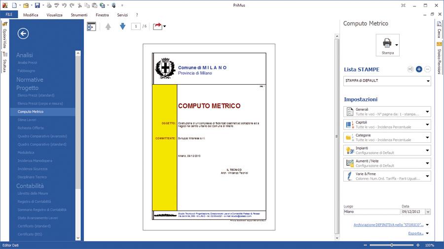 Software preventivi edili primus p acca software for Computo metrico estimativo excel