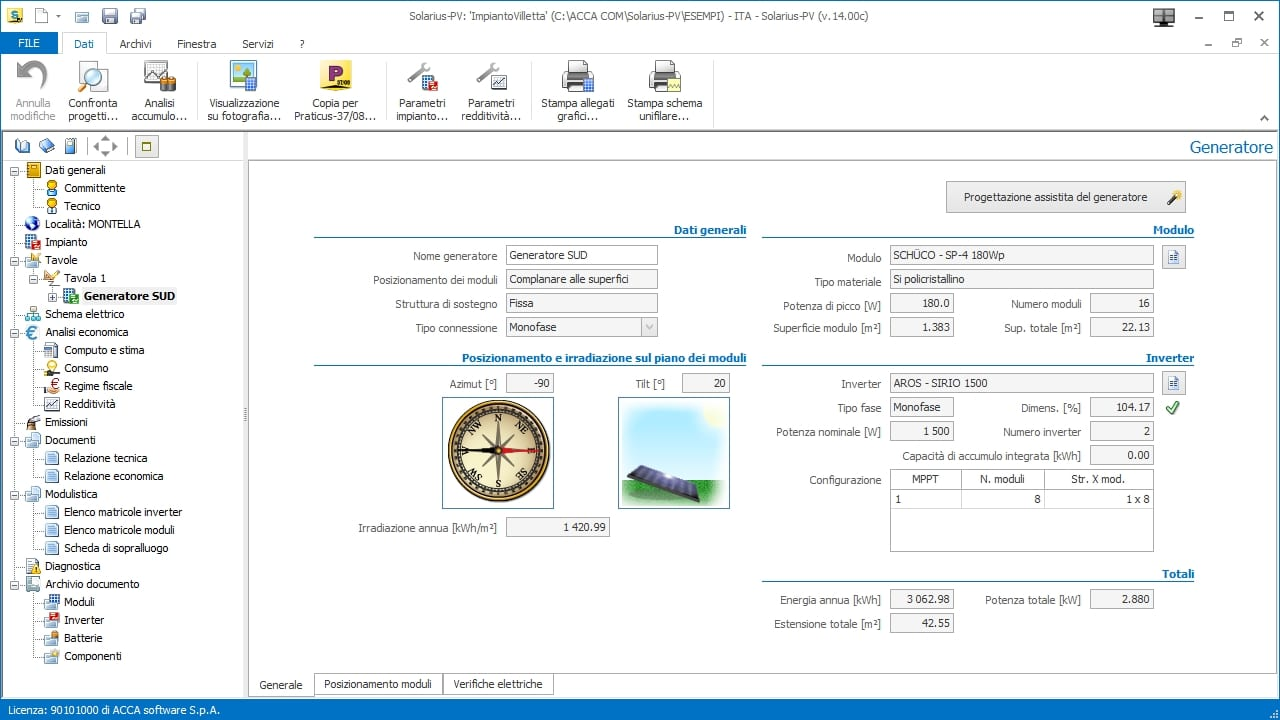 Software per la progettazione di impianti fotovoltaici 22