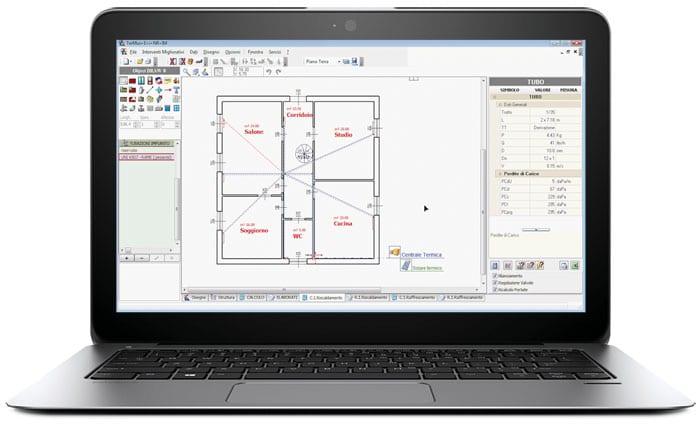 Software progettazione impianti termici termus i acca for Progetto software
