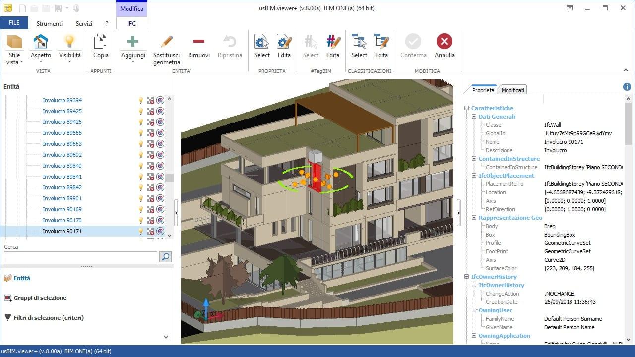 Visualizzatore IFC BIM (Viewer) gratuito | usBIM viewer+