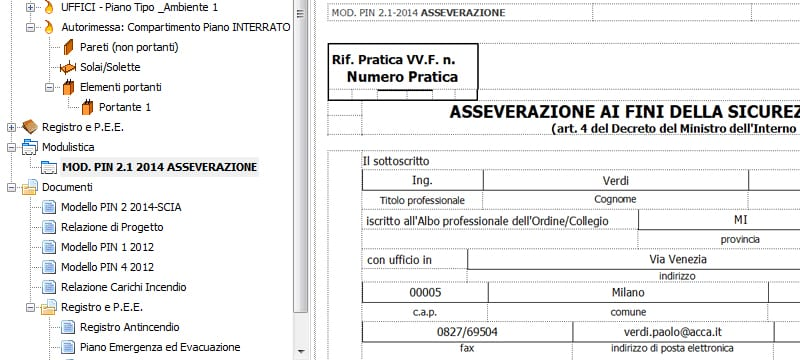Modulistica antincendio - AntiFuocus - ACCA software
