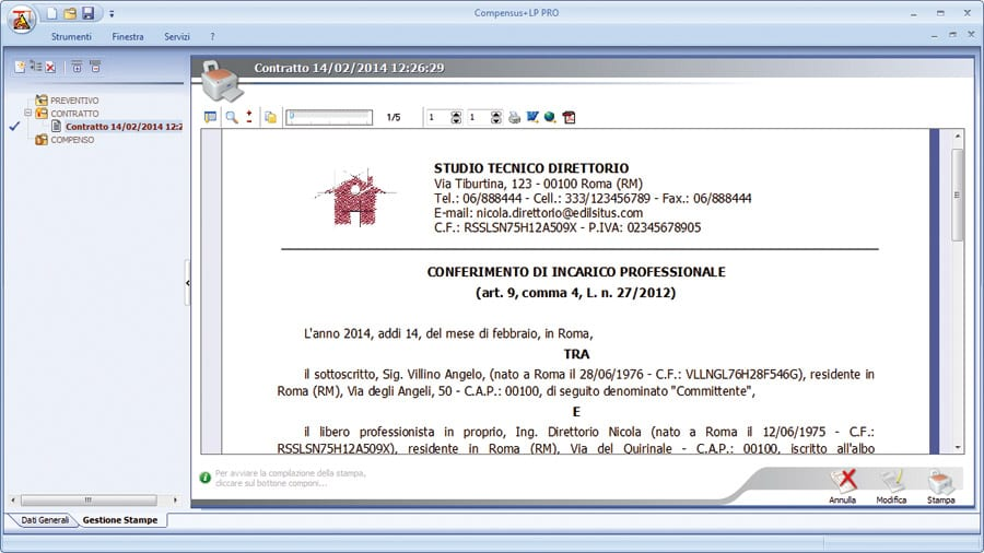 Software compensi professionali