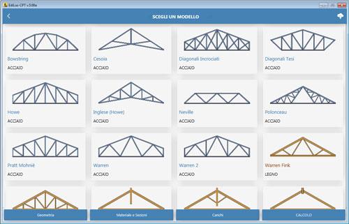 Calcolo capriate in legno e acciaio edilus cpt pro acca software for Capriate in ferro