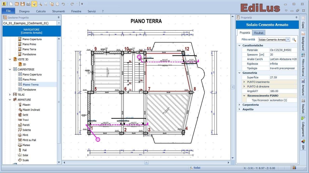 Software calcolo strutturale cemento armato edilus ca for Strutture metalliche dwg