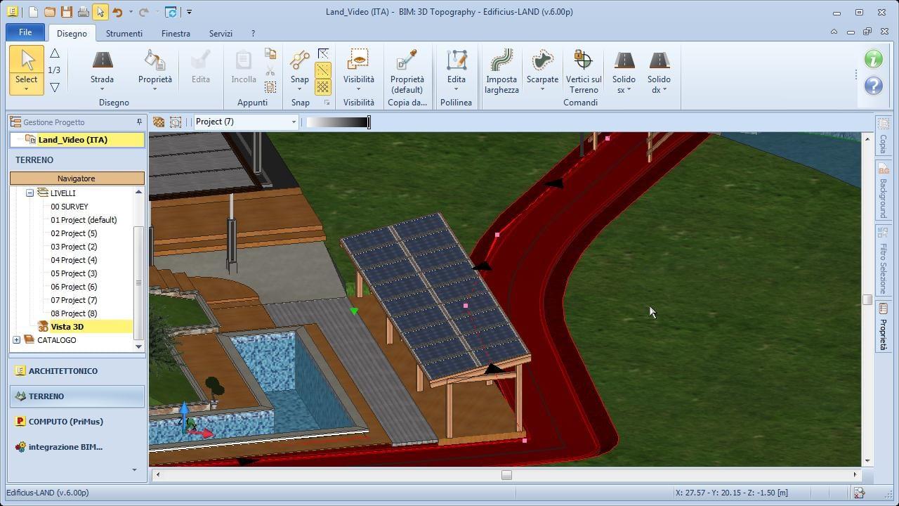 Software progettazione giardini edificius land acca for Progettare casa 3d