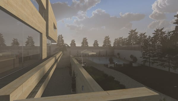 Effetto Nebbbia Volumetrica - Rendering - BIM software Edificius