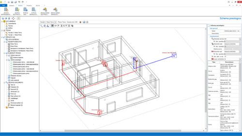 Software progettazione reti gas impiantus gas acca - Schema elettrico bagno ...