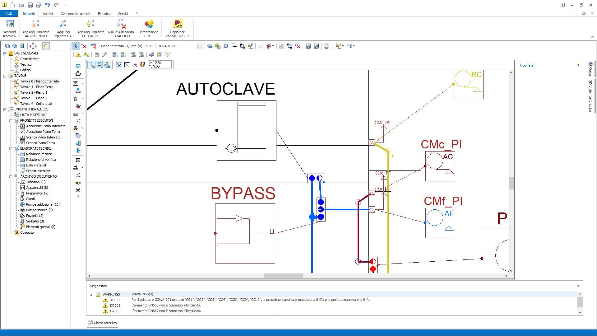 Aggiornamenti impiantus idraulico for Impianto autoclave schema