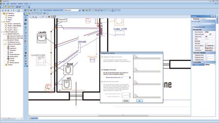 Schema impianto idrico sanitario dwg for Software progettazione bagno