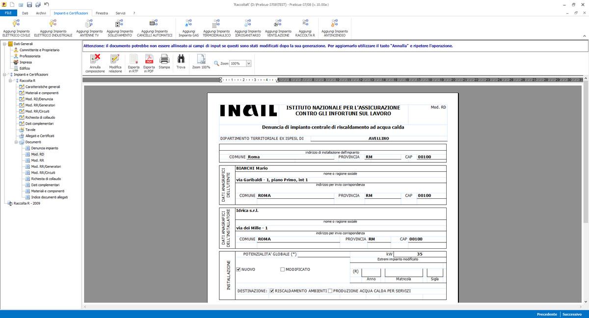 Software Per Dichiarazione Di Conformita Praticus 37 08 Acca