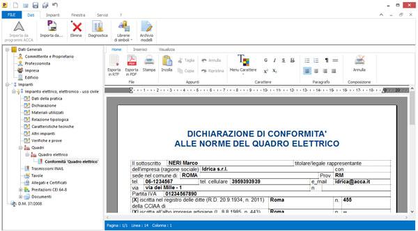 Certificato di conformit impianto elettrico certificato for Esempio di preventivo impianto elettrico