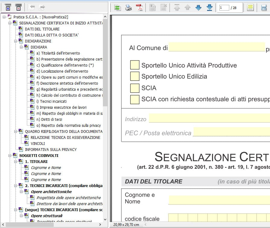 Input guidato - CAL CILA SCIA SUPERSCIA PDC- Praticus-TA - ACCA software