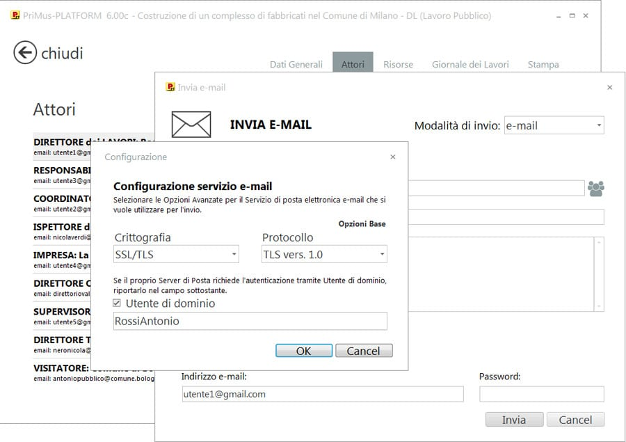 Opzione email