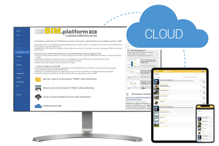 piattaforma collaborativa in cloud usBIM.platform ONE